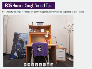 View the 1835 Hinman Single Virtual Tour at the Residential Services site