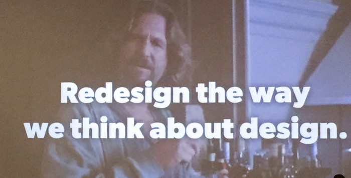"From J Cornelius - ""Redesign our Design Thinking"""