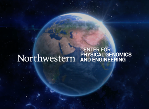 The Center for Physical Genomics and Engineering logo over the globe