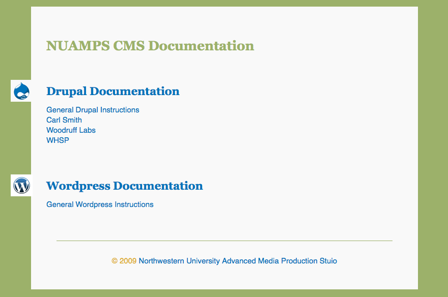 CMS Documentation