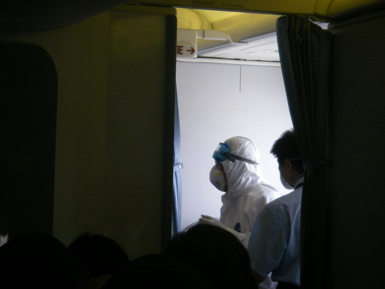 quarantine officials on board