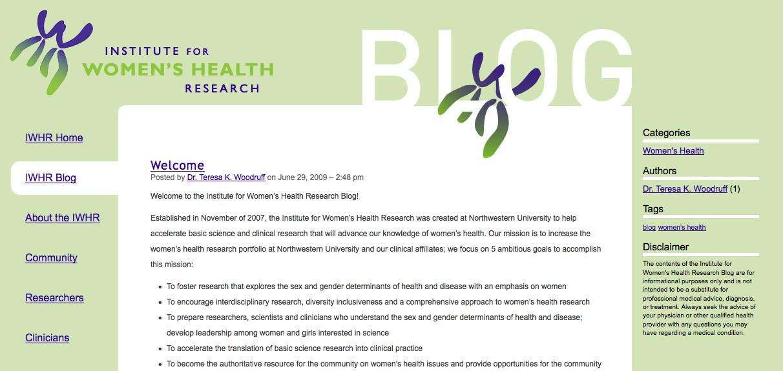 IWHR Blog