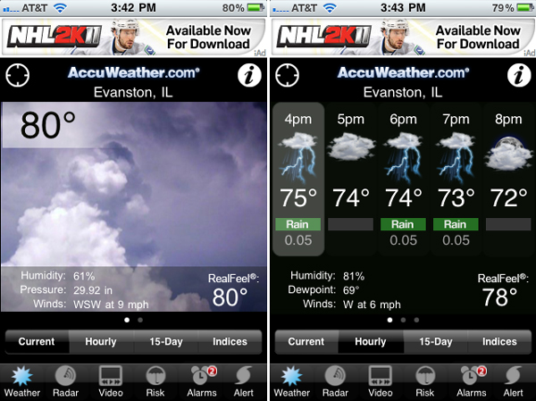 Accuweather iPhone App
