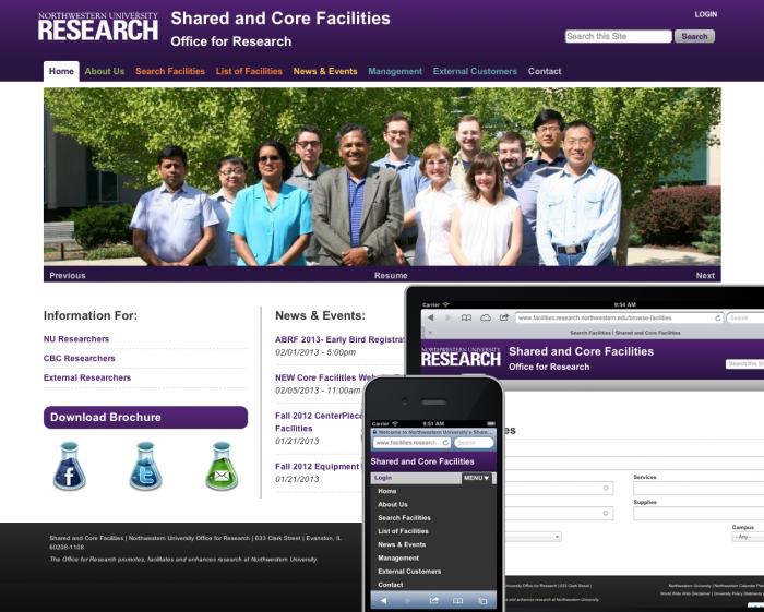 Core Facilities Screenshots