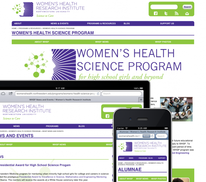 WHSP Website on iPad, iPhone and desktop